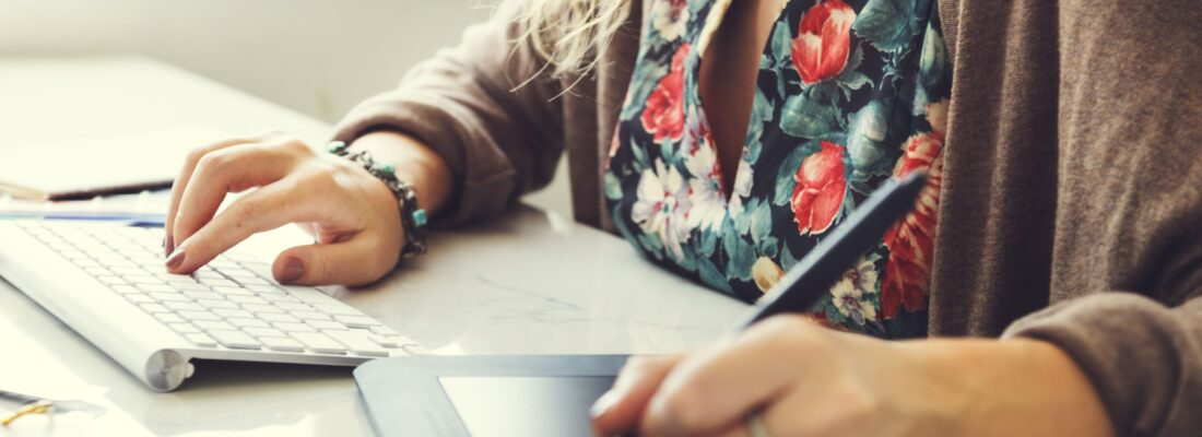 Woman Working Graphic Designer Creativity Editor Ideas Concept